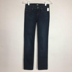 PAIGE dark wash straight leg jeans size 25